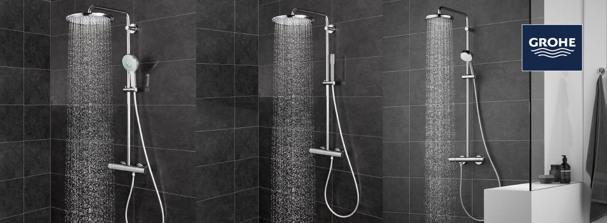Shower Systems with diverter from GROHE at xTWO