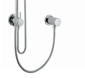 Shower system with diverter wall elbow